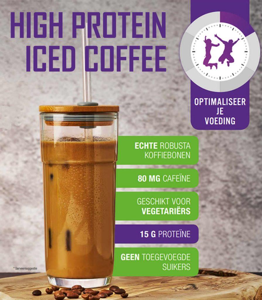 Nieuw! Iced Coffee: heerlijke eiwitrijke ijskoffie latte zonder suiker